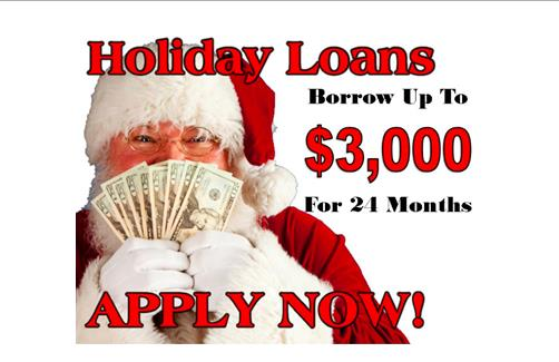Holiday Loans are Here